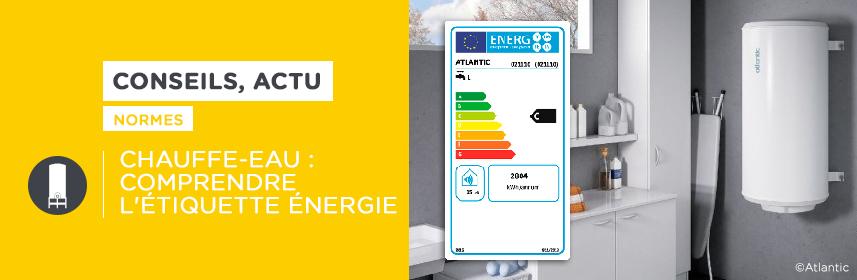 Chauffe-eau : comprendre l'étiquette énergie
