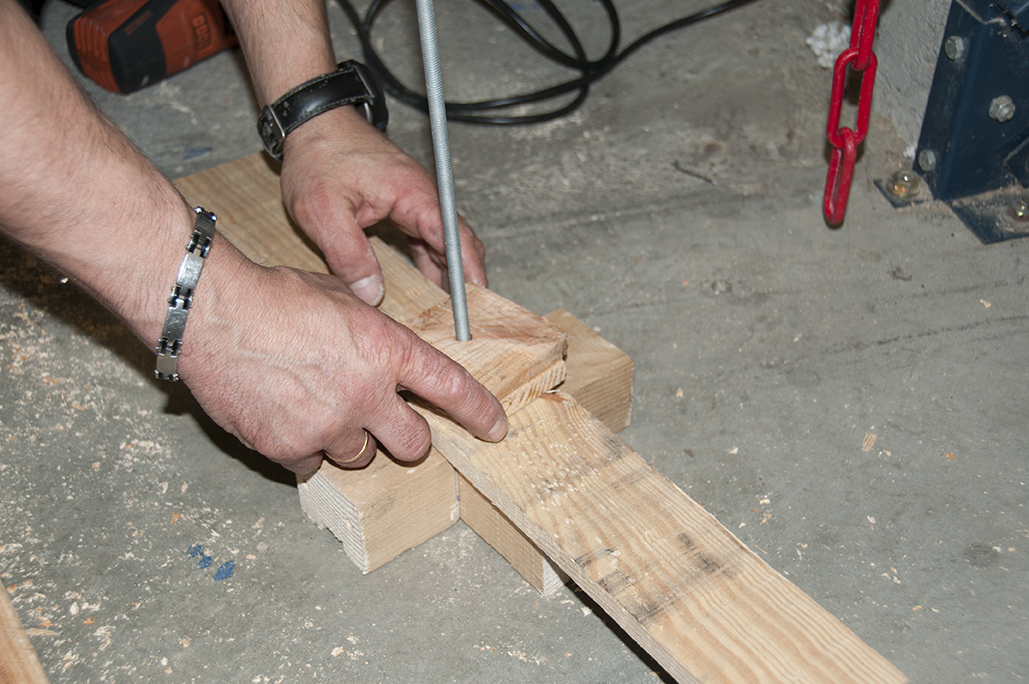 6/ Vous pouvez maintenant empiler chacune des planches facilement à l'aide de votre numérotation